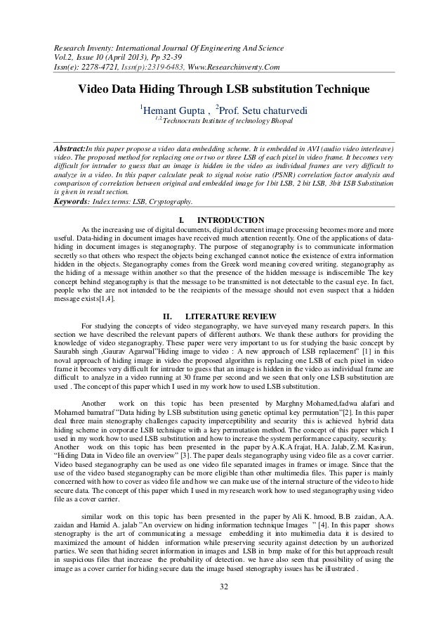 Research Inventy: International Journal Of Engineering And ScienceVol.2, Issue 10 (April 2013), Pp 32-39Issn(e): 2278-4721...