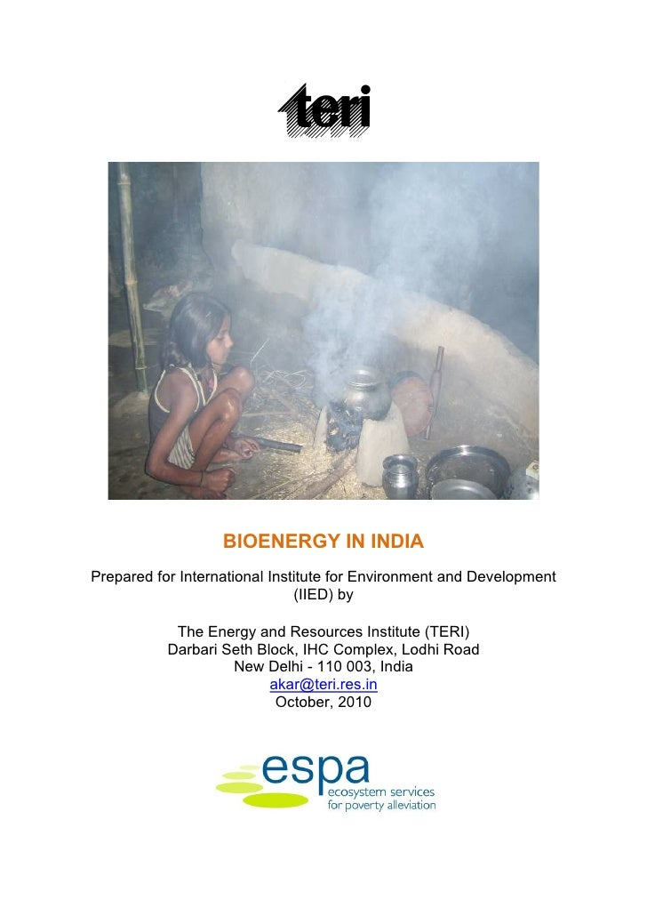 BIOENERGY IN INDIAPrepared for International Institute for Environment and Development                               (IIED...