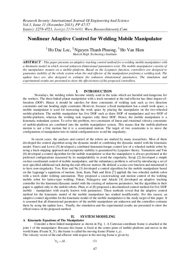 Research Inventy: International Journal Of Engineering And Science Vol.3, Issue 11 (November 2013), PP 47-57 Issn(e): 2278...
