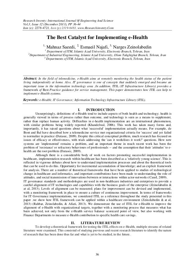 Research Inventy: International Journal 0f Engineering And Science Vol.3, Issue 12 (December 2013), PP 36-44 Issn (e): 227...