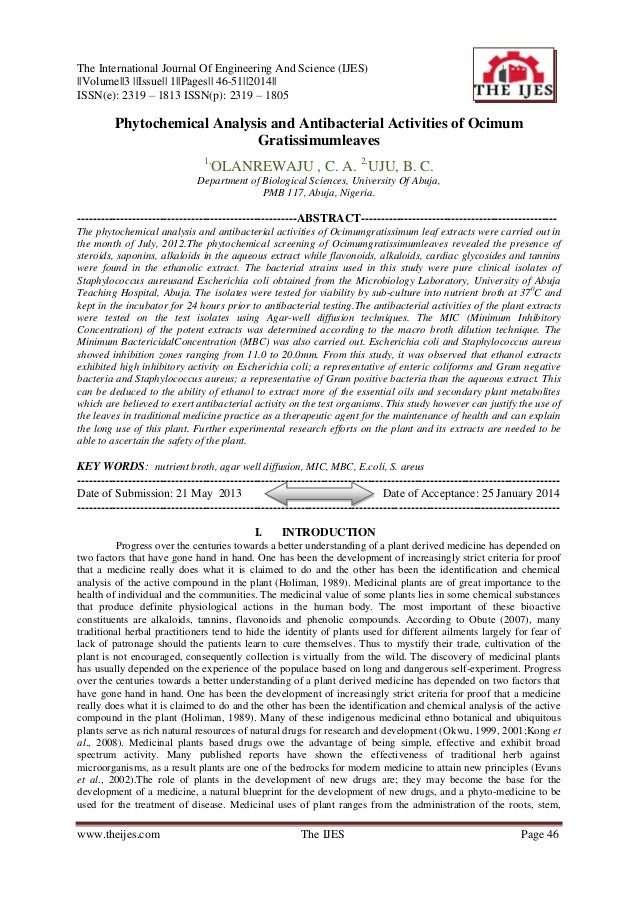 The International Journal Of Engineering And Science (IJES) ||Volume||3 ||Issue|| 1||Pages|| 46-51||2014|| ISSN(e): 2319 –...