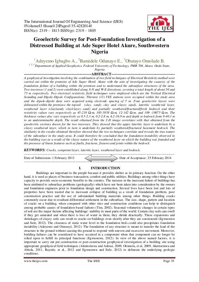 The International Journal Of Engineering And Science (IJES) ||Volume||3 ||Issue|| 2||Pages|| 35-42||2014|| ISSN(e): 2319 –...