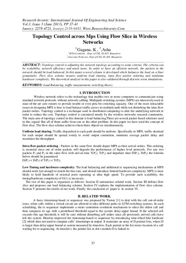Research Inventy: International Journal Of Engineering And Science Vol.3, Issue 3 (June 2013), PP 37-41 Issn(e): 2278-4721...
