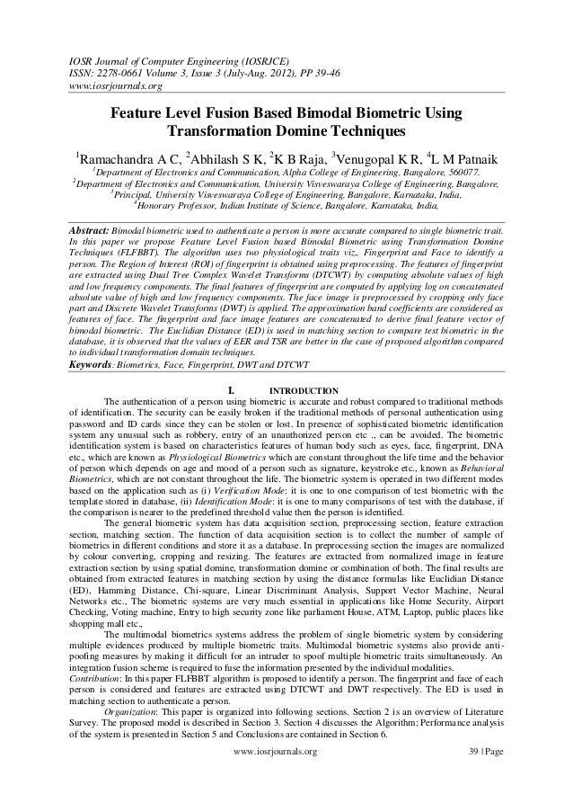 IOSR Journal of Computer Engineering (IOSRJCE) ISSN: 2278-0661 Volume 3, Issue 3 (July-Aug. 2012), PP 39-46 www.iosrjourna...