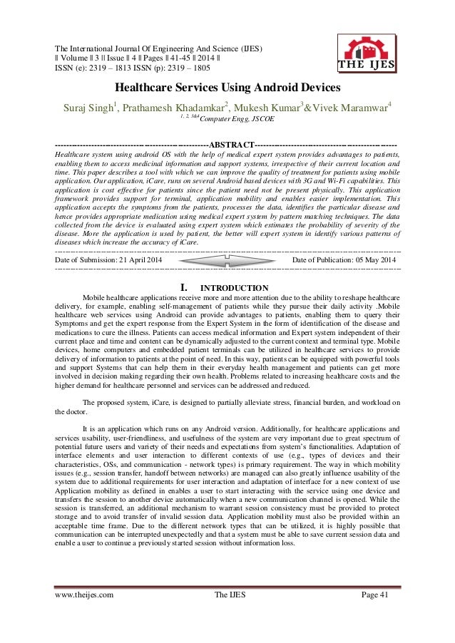 The International Journal Of Engineering And Science (IJES)    Volume    3    Issue    4    Pages    41-45    2014    ISSN...