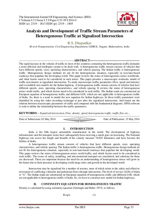 The International Journal Of Engineering And Science (IJES)    Volume    3    Issue    5    Pages    33-39    2014    ISSN...