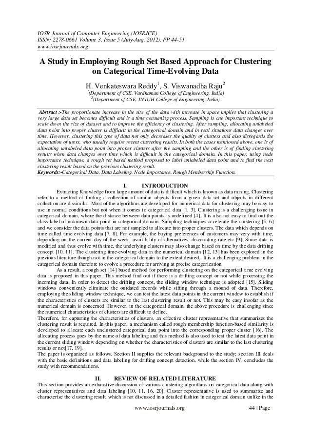 IOSR Journal of Computer Engineering (IOSRJCE) ISSN: 2278-0661 Volume 3, Issue 5 (July-Aug. 2012), PP 44-51 www.iosrjourna...