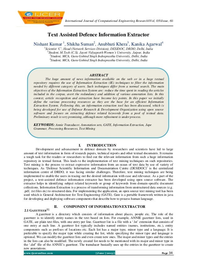 International Journal of Computational Engineering Research||Vol, 03||Issue, 6||www.ijceronline.com ||June ||2013|| Page 3...
