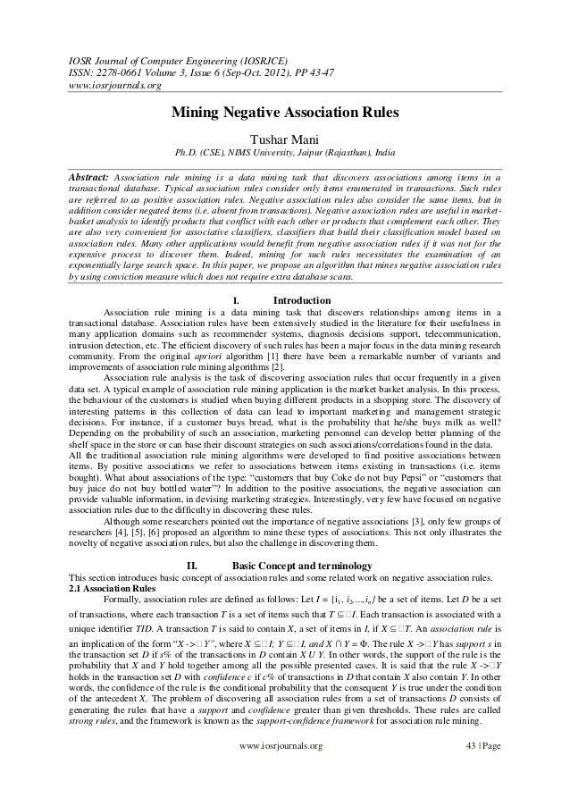 IOSR Journal of Computer Engineering (IOSRJCE) ISSN: 2278-0661 Volume 3, Issue 6 (Sep-Oct. 2012), PP 43-47 www.iosrjournal...