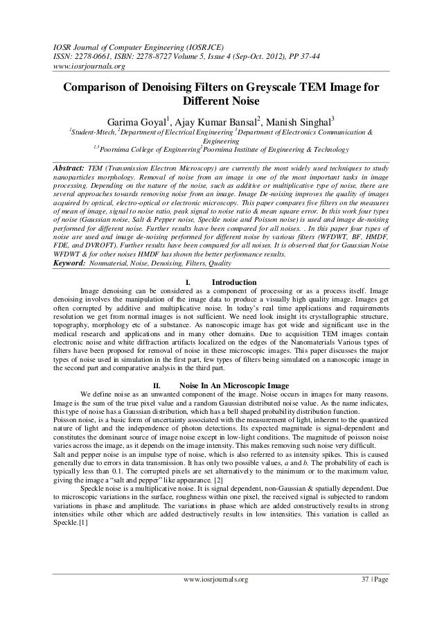 IOSR Journal of Computer Engineering (IOSRJCE) ISSN: 2278-0661, ISBN: 2278-8727 Volume 5, Issue 4 (Sep-Oct. 2012), PP 37-4...
