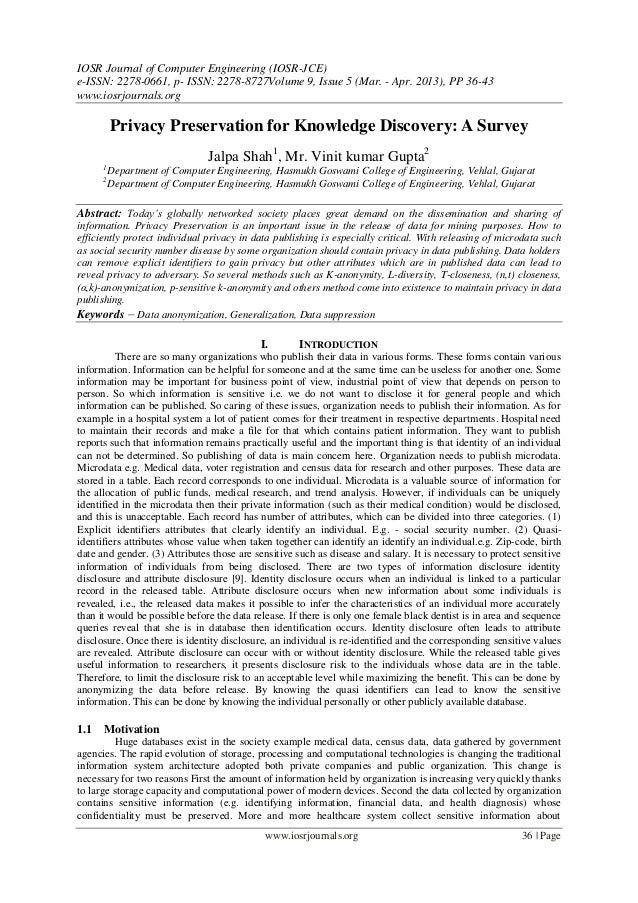 IOSR Journal of Computer Engineering (IOSR-JCE)e-ISSN: 2278-0661, p- ISSN: 2278-8727Volume 9, Issue 5 (Mar. - Apr. 2013), ...