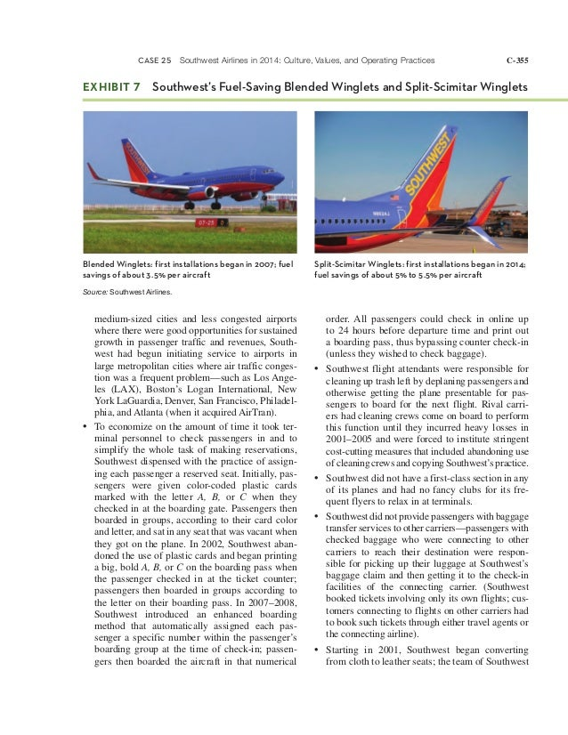 Southwest airlines in 2010 culture values and operating practices
