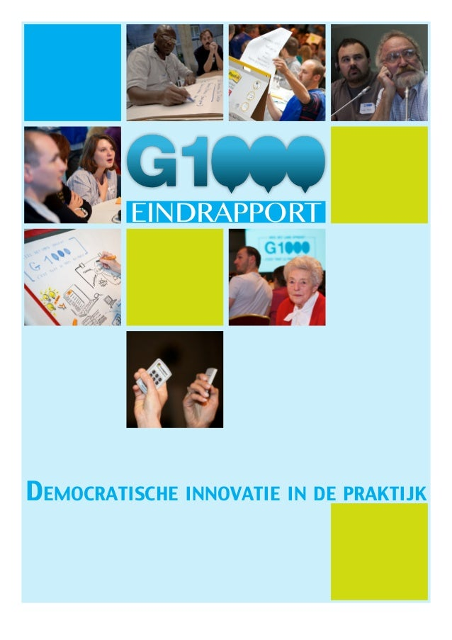 EINDRAPPORTDemocratische innovatie in de praktijk