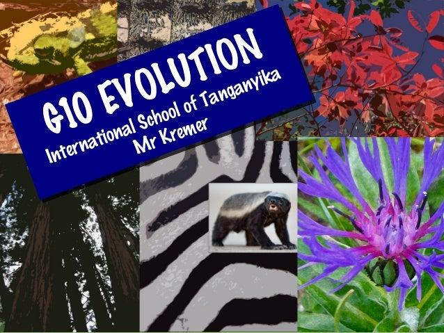 G10 EVOLUTIONInternational School of TanganyikaMr KremerG10 EVOLUTIONInternational School of TanganyikaMr Kremer