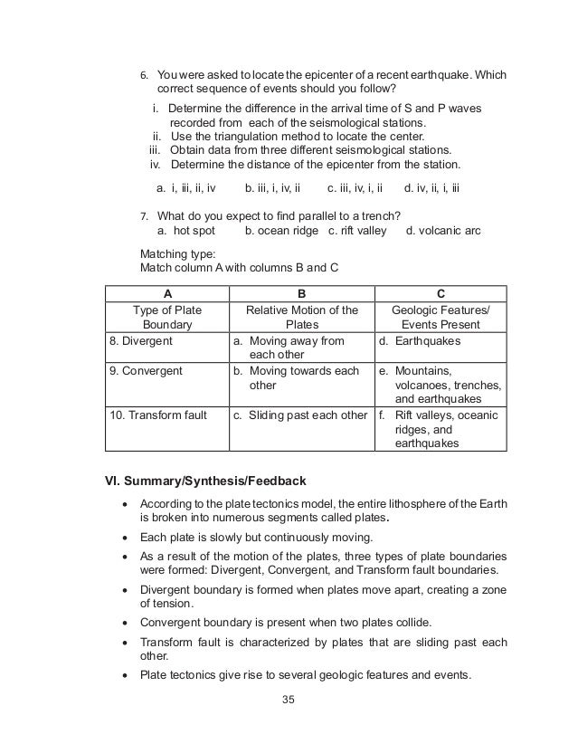 Plate Boundaries Coloring Activity Plate Tectonics Worksheet – Plate Boundaries Worksheet