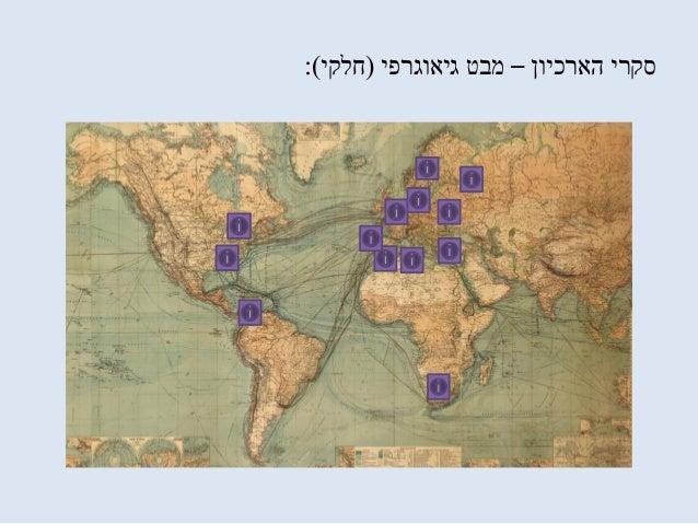 הארכיון סקרי–גיאוגרפי מבט(חלקי:)