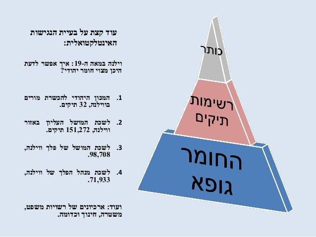 הנגישות בעיית על קצת עוד האינטלקטואלית: וילנהבמאהה-19:איךאפשרלדעת היכןמצויחומריהודי? .1המ...