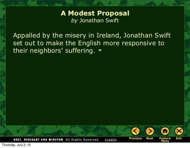 A Modest Proposal Introductin
