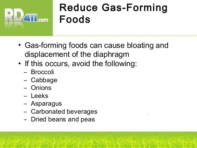 List Of Gas Forming Foods