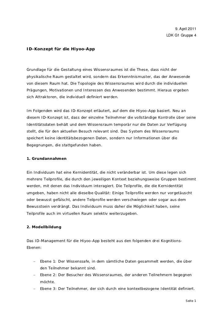 9. April 2011                                                                           LDK G1 Gruppe 4ID-Konzept für die ...