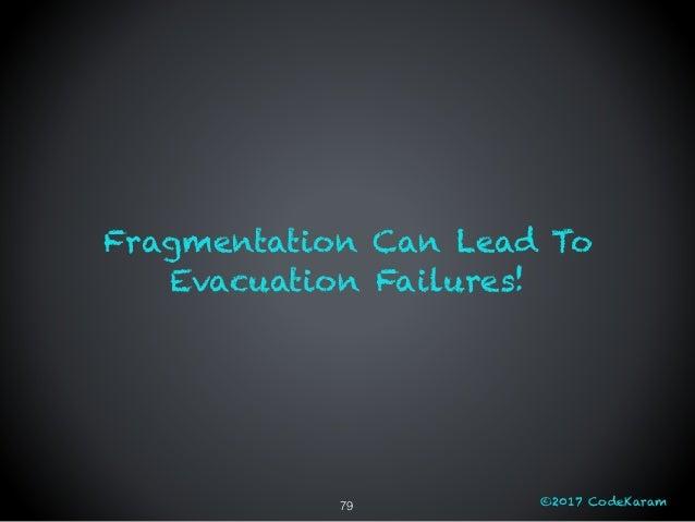 ©2017 CodeKaram Fragmentation Can Lead To Evacuation Failures! 79