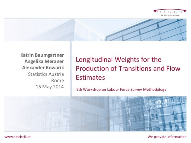 www.statistik.at We provide information Longitudinal Weights for the Production of Transitions and Flow Estimates Katrin B...