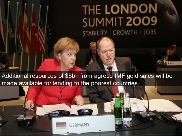 Additional resources of $6bn from agreed IMF gold sales will be made available for lending to the poorest countries