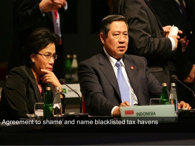 Agreement to shame and name blacklisted tax havens