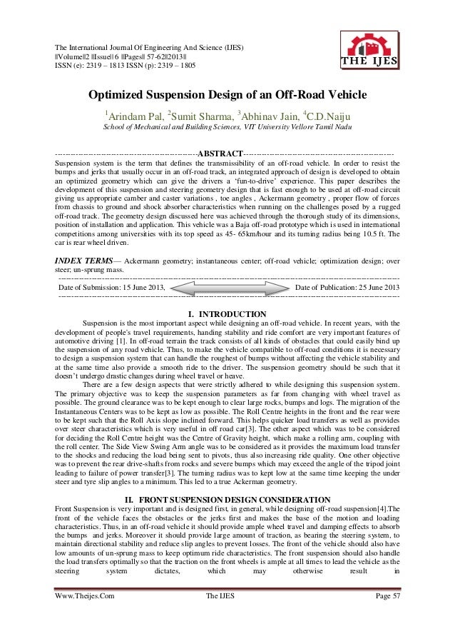 The International Journal Of Engineering And Science (IJES) ||Volume||2 ||Issue|| 6 ||Pages|| 57-62||2013|| ISSN (e): 2319...