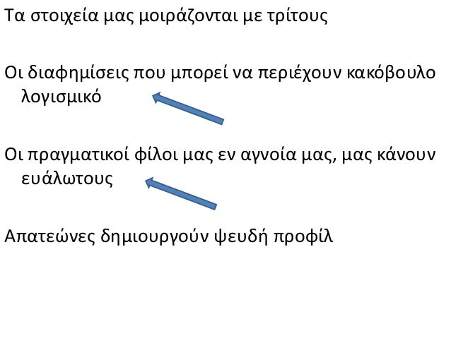 Κίνδυνοι στο Facebook - Γ2 Slide 3