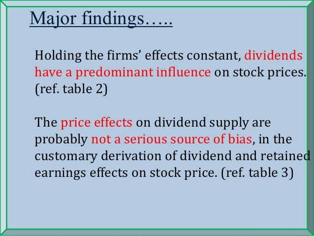 stock price and dividend relationship