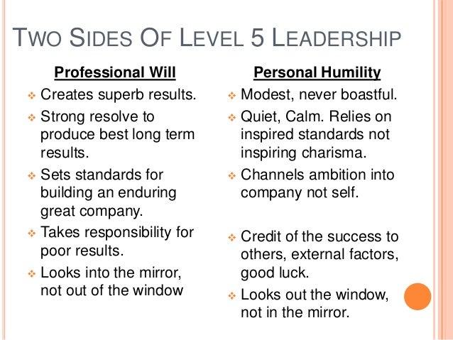 Good to great level 5 leadership summary