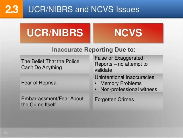 comparison ucr nibrs Comparison of nibrs and ucr definitions a comparison of ucr and nibrs definitions was compiled by the new york state division of criminal justice services all fbi ucr definitions were.
