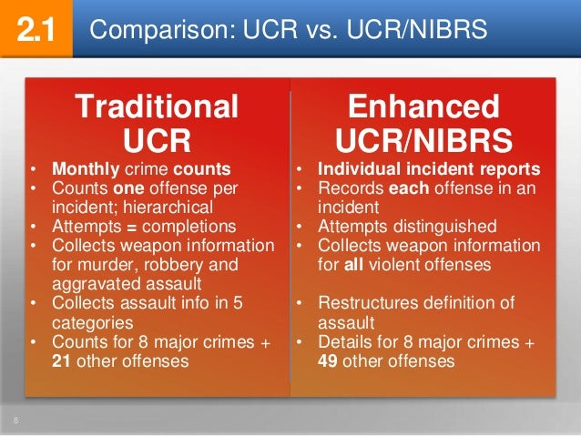 what is the difference between ucr and ncvs