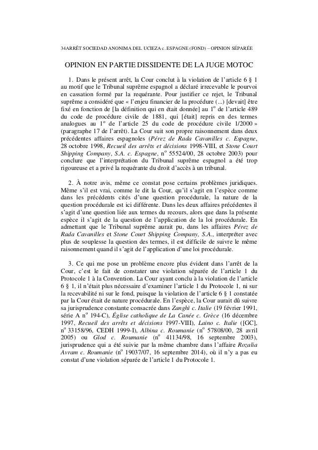 Affaire sociedad anonima del ucieza c. espagne, 4 11-2014