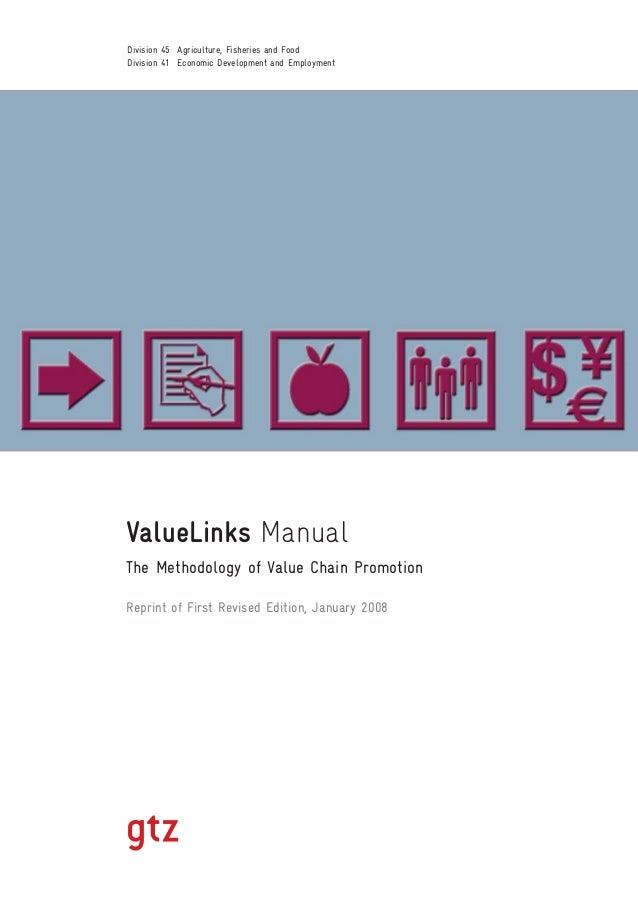 ValueLinks Manual The Methodology of Value Chain Promotion Reprint of First Revised Edition, January 2008 Division 45 Agri...