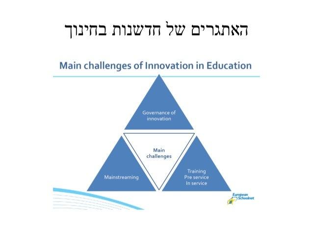 האתגרים של חדשנות בחינוך