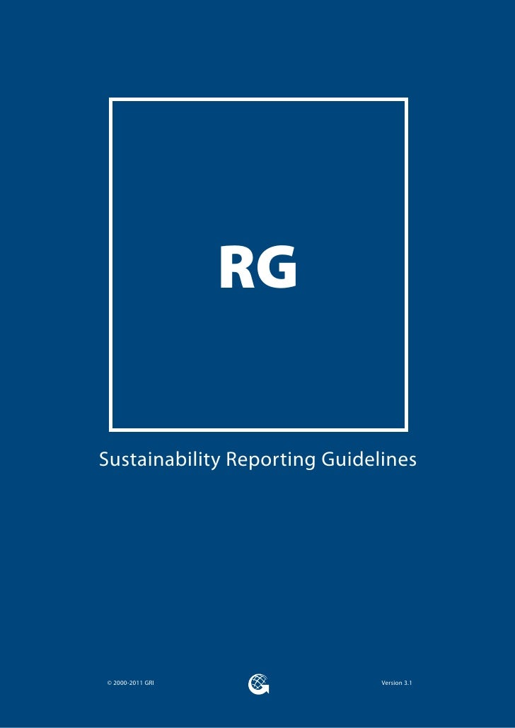 RGSustainability Reporting Guidelines© 2000-2011 GRI                Version 3.1
