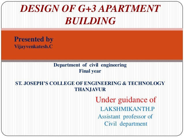 G+3 APARTMENT BUILDING PROJECT REPORT