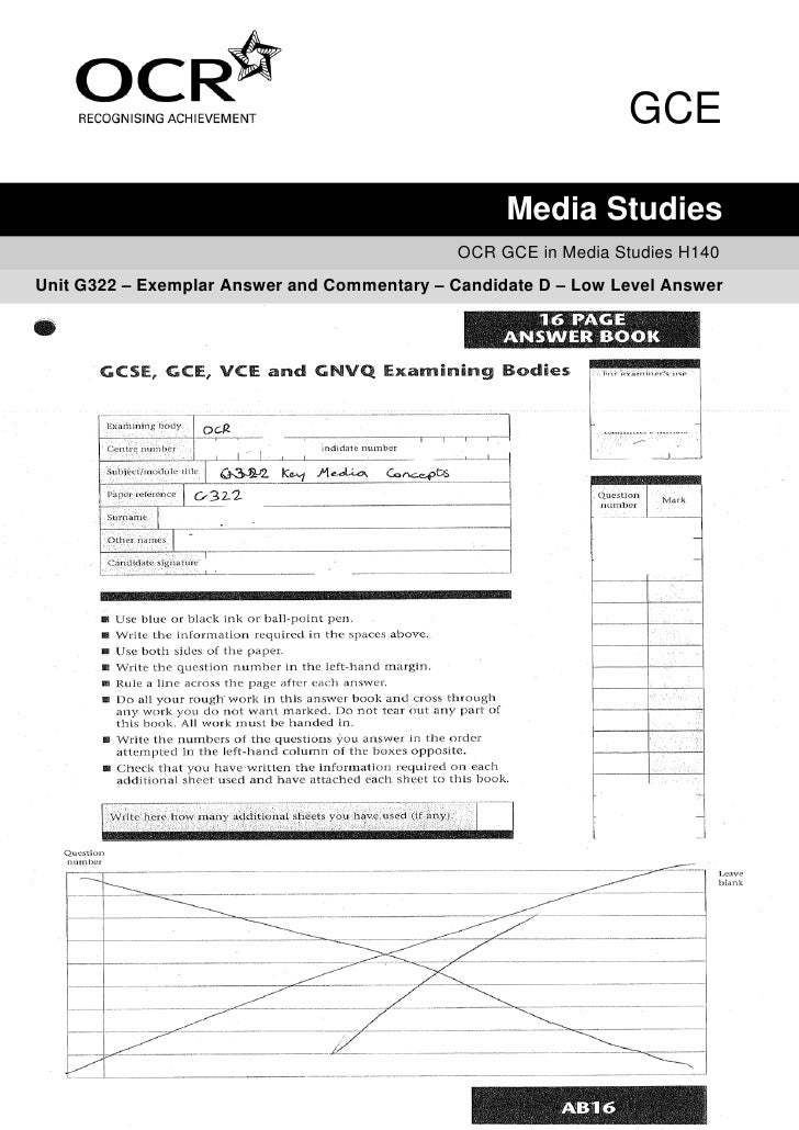 GCE                                                     Media Studies                                               OCR GC...