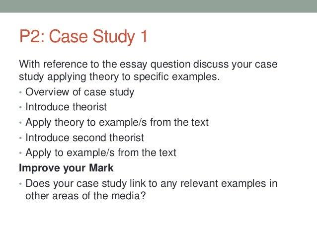 case study essay structure