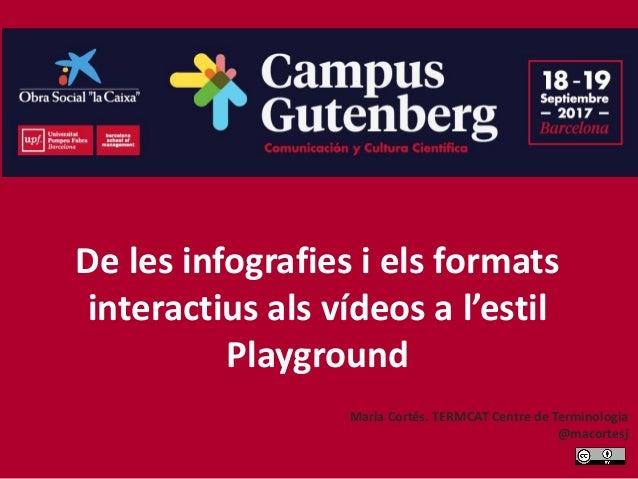 De les infografies i els formats interactius als vídeos a l'estil Playground Maria Cortés. TERMCAT Centre de Terminologia ...