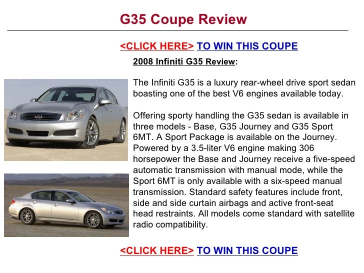 G35 Coupe Review