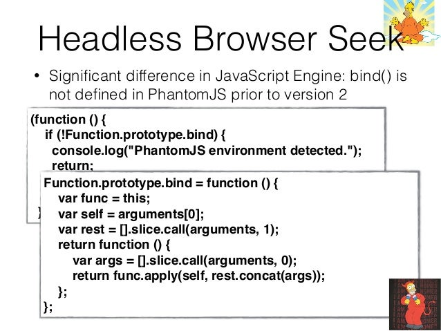 Detecting headless browsers