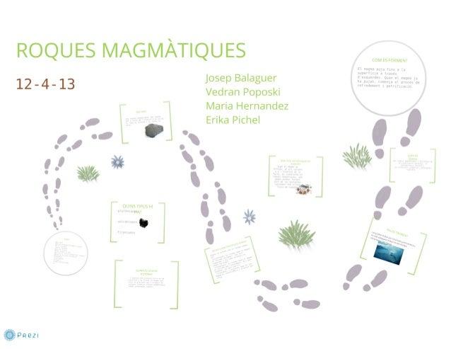 G 3 b roques magmatiques