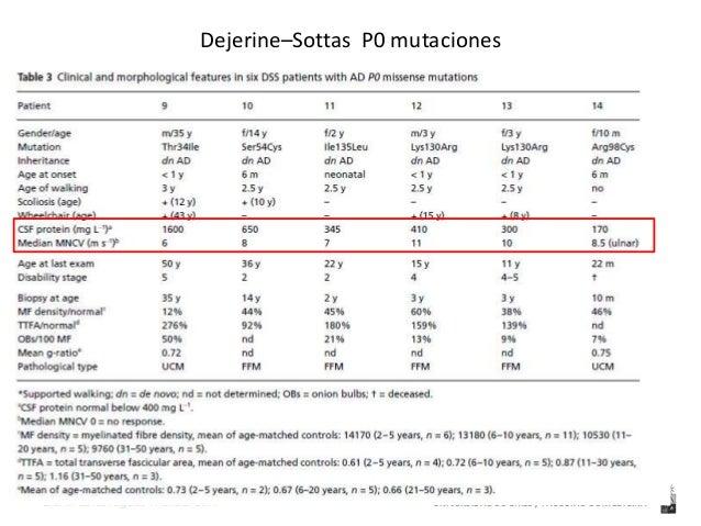Dejerine–Sottas syndrome grown to maturity, Anneke  Gabreëls-Festen  UNIVERSIDAD Dra. Ma de los Angeles Avaria B. 2014 DE ...