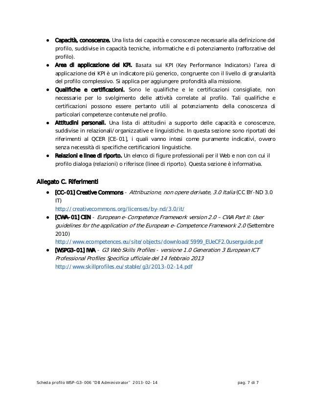 G3 Web skills profiles - versione 1.0 Generation 3 European ICT Professional Profiles - Professionisti Web