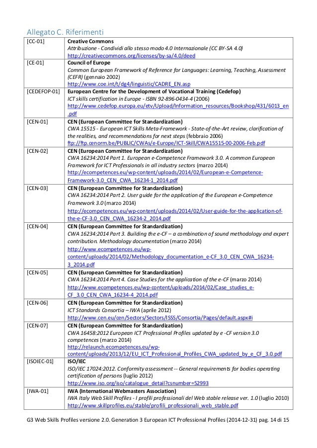 Allegato C. Riferimenti [CC-01] Creative Commons Attribuzione - Condividi allo stesso modo 4.0 Internazionale (CC BY-SA 4....