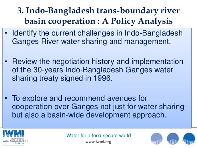 Effects of the ganges treaty on