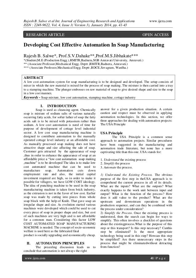 Rajesh B. Salwe et al Int. Journal of Engineering Research and Applications ISSN : 2248-9622, Vol. 4, Issue 1( Version 3),...